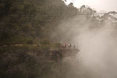 Туманные горы сценарные Стоковое фото RF