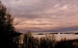 Туманные горы Стоковая Фотография