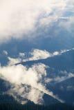 туманные горы Стоковое Изображение