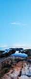туманный взгляд океана Стоковые Изображения RF