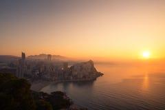 Туманный восход солнца Стоковое Изображение