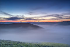 туманный восход солнца Стоковое фото RF