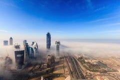 Туманный Дубай стоковая фотография rf