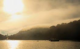 Туманный океан 9 утра Стоковая Фотография RF