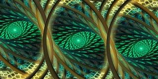 Туманный орнамент мозаики фантазии конспекта леса Стоковые Фотографии RF