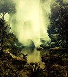 туманный пруд стоковое фото rf