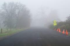 Туманный путь вперед стоковые фотографии rf