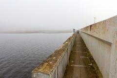 Туманный путь утра Стоковая Фотография RF