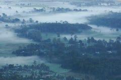 Туманный рассвет на Gold Coast Стоковые Фотографии RF