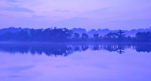 Туманный рассвет Стоковое Изображение