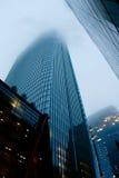 Туманный центр города стоковое фото