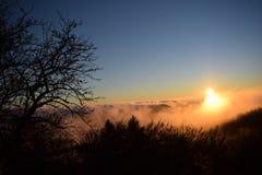 Туманный час захода солнца Стоковые Изображения RF
