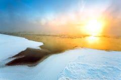 Туман в зиме Стоковые Изображения RF