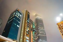 Туман здания Кувейта стоковые изображения