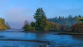 Туман и малая вода звука Puget Стоковые Изображения