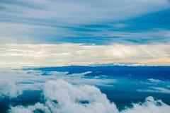 Туман моря на горе Стоковая Фотография RF