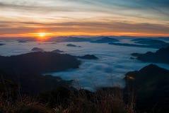Туман моря Стоковая Фотография RF