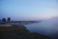 туман над рекой Стоковое Изображение RF