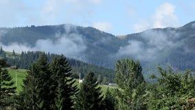 Туман над горами сток-видео