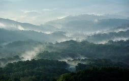 Туман на горе Стоковые Изображения
