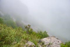Туман на перевале Стоковое Изображение RF