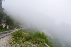 Туман на перевале Стоковые Изображения RF