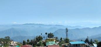 Туман облаков гор природы Гималаев стоковое фото rf