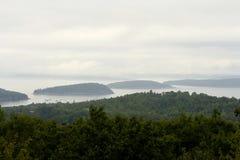 туман островов Стоковая Фотография