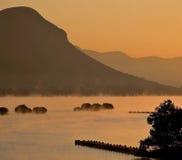 Туман рано утром Стоковые Изображения RF