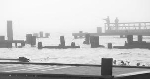 туман рыболовства Стоковое фото RF