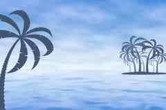 туман тропический иллюстрация вектора