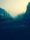 Туман утра в улице Лондона Стоковое Изображение RF