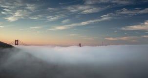 Туман утра моста золотого строба сток-видео