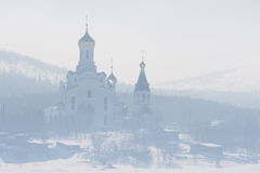 туман церков Стоковая Фотография RF