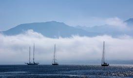 Туман Calvi, Корсика Стоковое фото RF