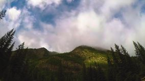 Туман Tiimelapse на горе видеоматериал