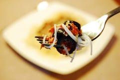 туна макаронных изделия оливок Стоковые Фото