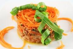 туна салата морковей Стоковые Фото