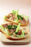 туна сандвича огурцов Стоковые Изображения RF