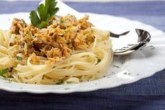 туна спагетти петрушки рыб Стоковые Изображения RF