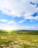тундра горы северная Стоковое Изображение RF