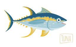 Тунец, иллюстрация шаржа вектора Стоковые Фотографии RF