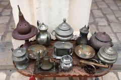 Тунисский антикварный магазин стоковая фотография
