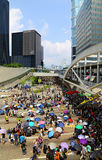 Тупик протестующих Гонконга на Лорд-адмирале Стоковое фото RF