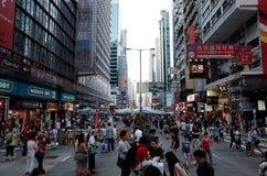 Тупик 2014 протестующих Гонконга Стоковые Изображения