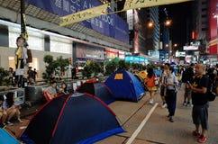 Тупик 2014 протестующих Гонконга Стоковое Изображение RF