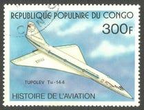 Туполев Tu-144 Стоковое Изображение RF