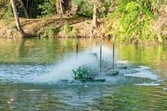 Турбина воды, обработка сточных вод стоковое изображение