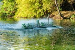 Турбина воды, обработка сточных вод стоковая фотография
