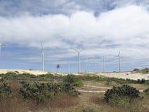 Турбины производства электроэнергии - энергия ветра стоковые изображения